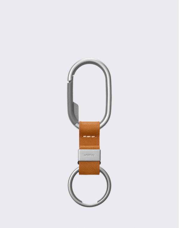 Orbitkey Clip Silver/Tan