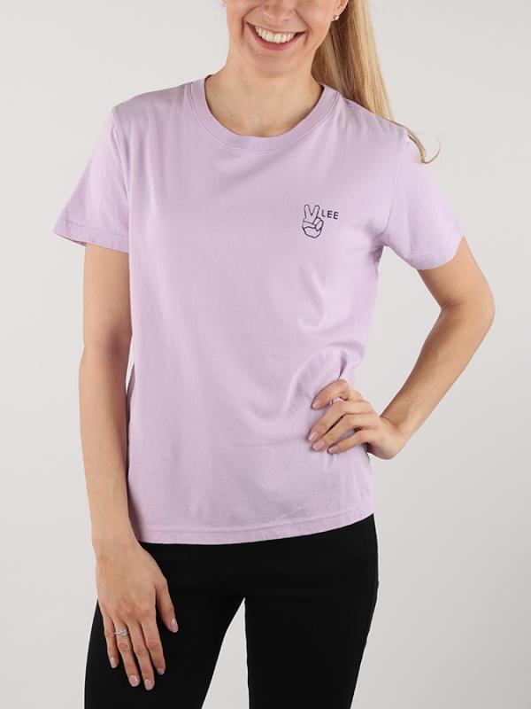 d67a24dc45d0 Tričko Lee Tee Pale Purple Růžová