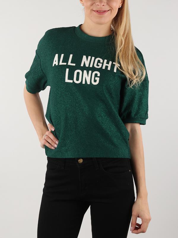 Blůza Lee SS All Night Long Sw Evergreen Zelená