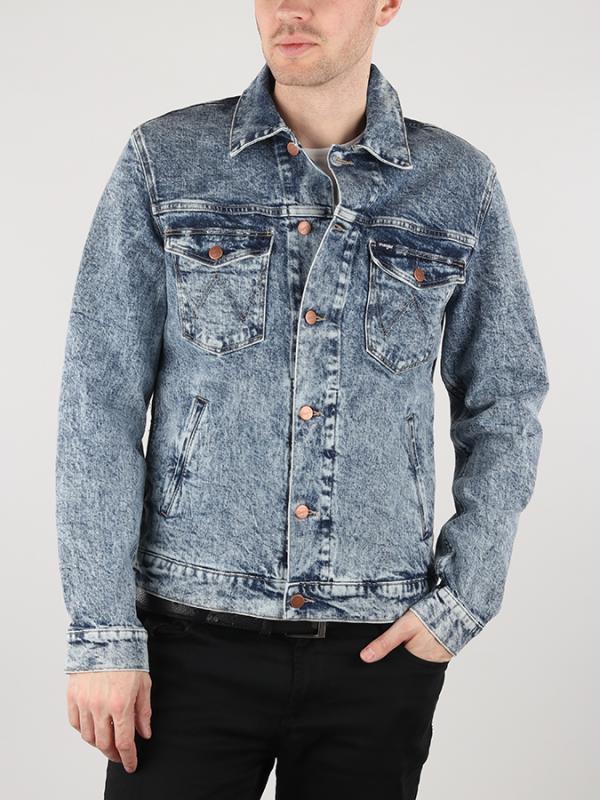 Bunda Wrangler Regular Jacket Glace Blue Modrá