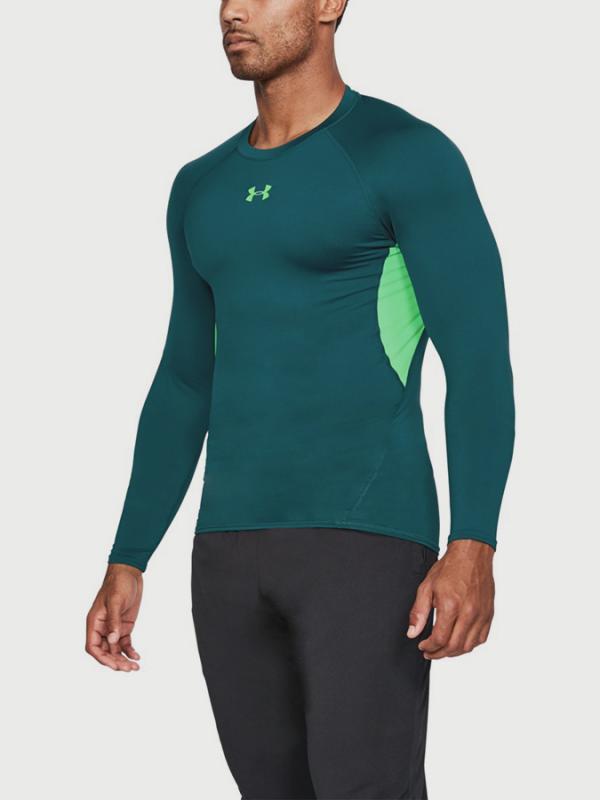 Kompresní tričko Under Armour Heatgear LS Zelená