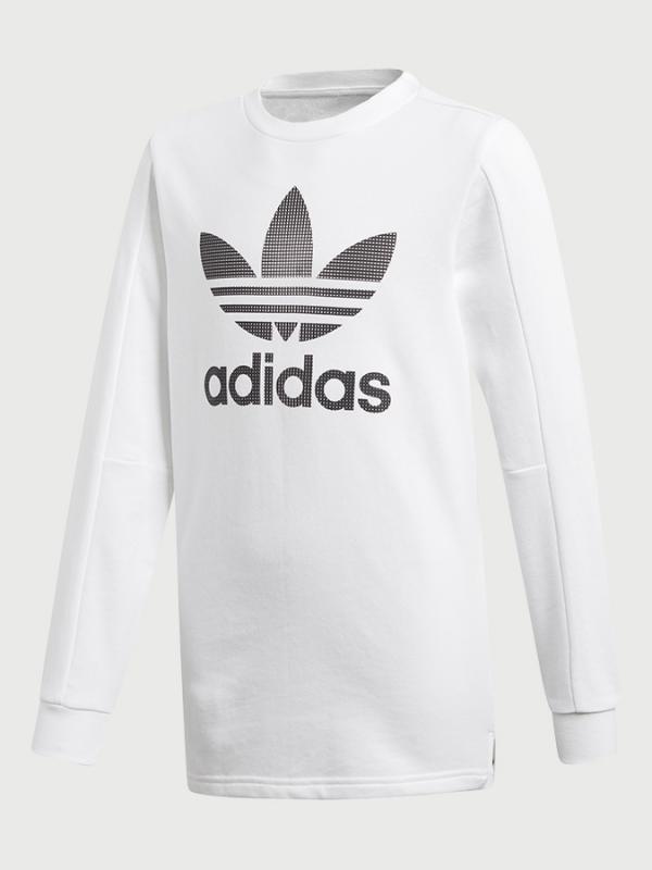 Tričko adidas Originals J Bf Ls Bílá