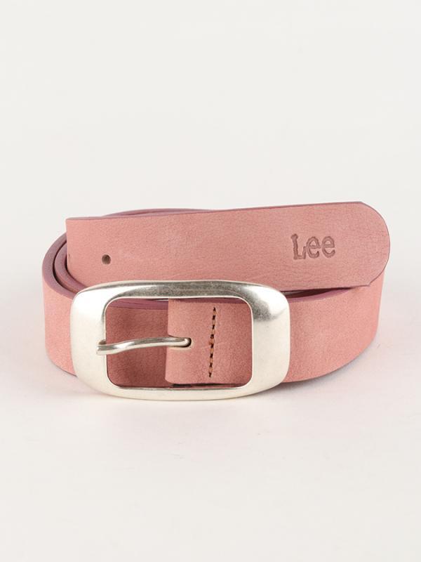 Pásek Lee Colourful Nubuck Bel Faded Pink Růžová