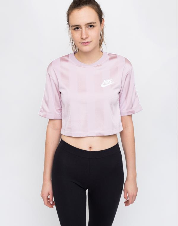 Nike Sportswear Shadow Stripe Top Plum Chalk/White L
