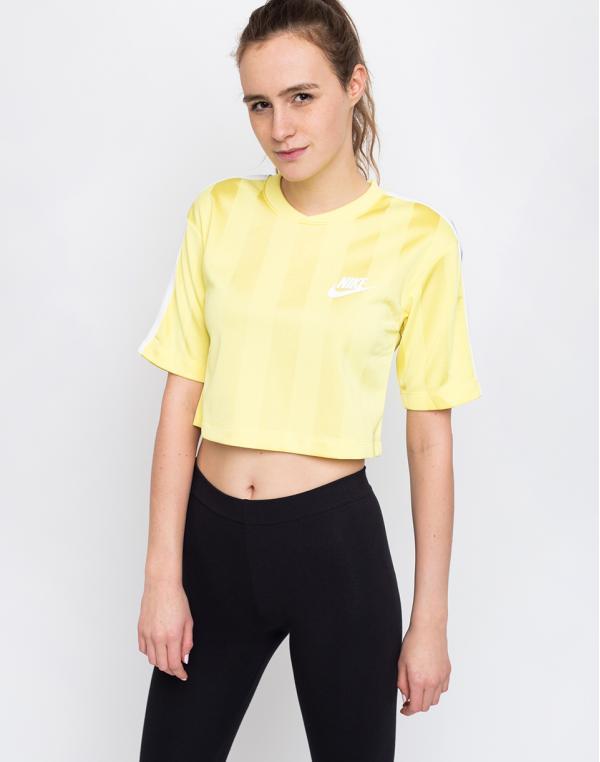 Nike Sportswear Shadow Stripe Top Yellow Pulse/White M