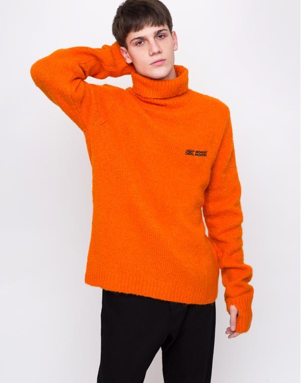 Cheap Monday Tap Knit Echologo Signal Orange L