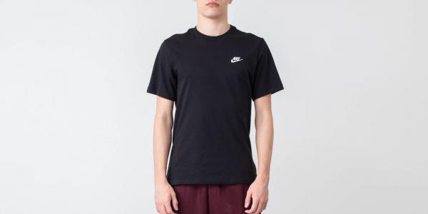 Nike Sportswear Club Tee Black/ White