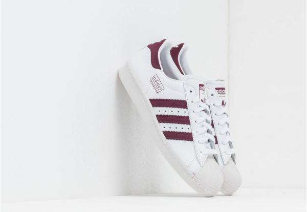 adidas Superstar 80S Ftw White/ Maroon/ Crystal White