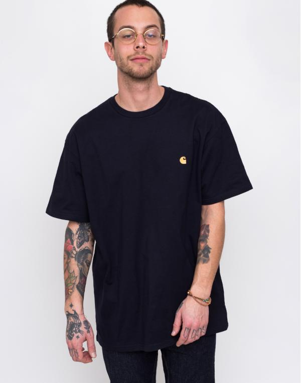 Carhartt WIP Chase T-Shirt Dark Navy/Gold L