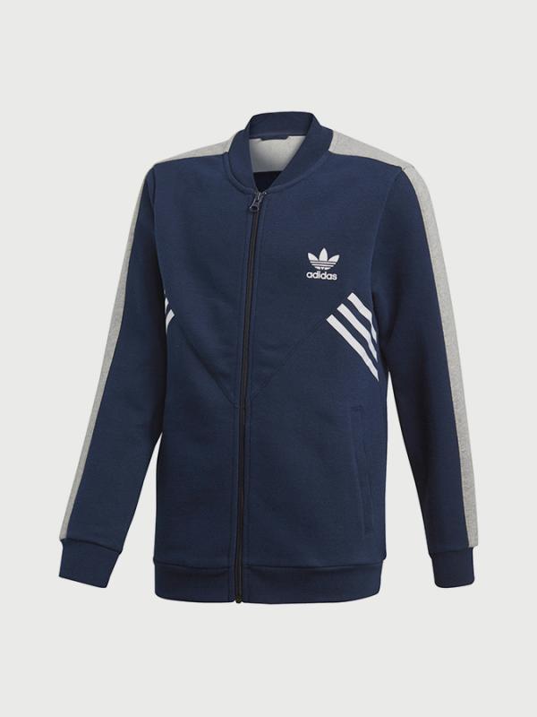 Mikina adidas Originals J M Fl Fl Sst Modrá