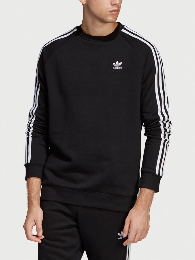Mikina adidas Originals 3-Stripes Crew Černá