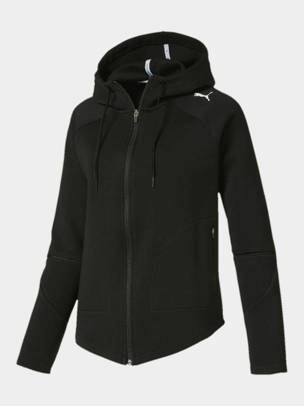 Bunda Puma Evostripe Move Hooded Jacket Cotton Blac Černá