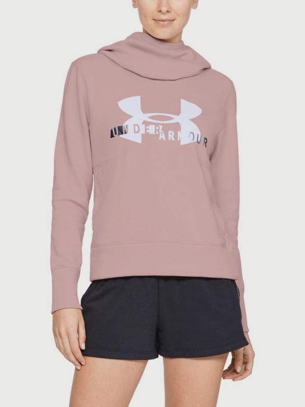 Mikina Under Armour Cotton Fleece Sportstyle Logo hoodie Růžová