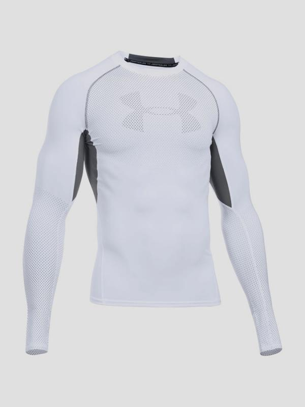Kompresní tričko Under Armour Heatgear Graphic LS Bílá