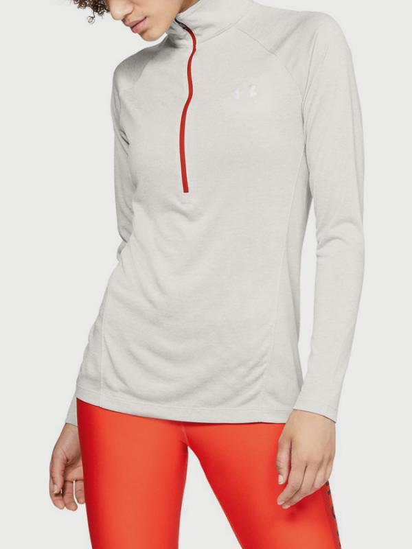 Tričko Under Armour Tech 1/2 Zip - Twist Bílá