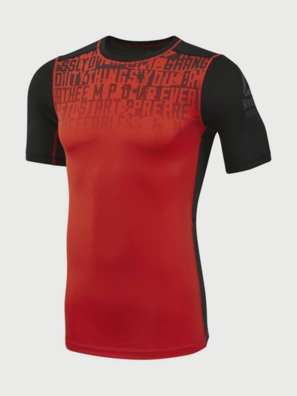 Kompresní tričko Reebok AC Graphic Comp Tee Červená