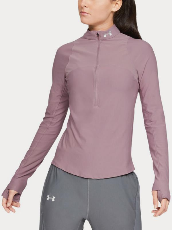 Tričko Under Armour Qlifier Half Zip Růžová