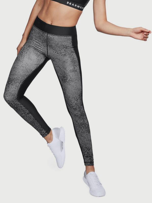 Kompresní legíny Under Armour Heatgear Printed Legging Šedá