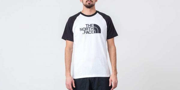 The North Face Raglan Easy Tee White/ Black