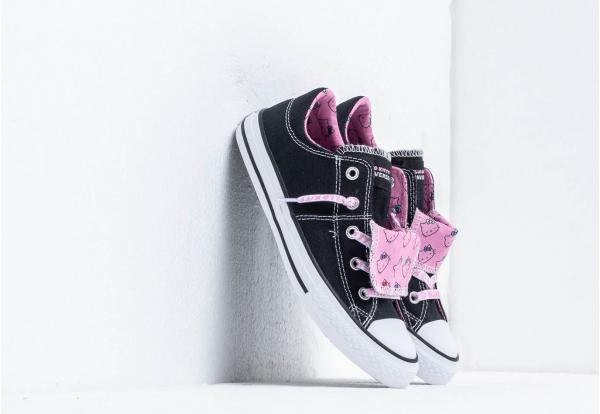 Converse x Hello Kitty Maddie Black/ Prism Pink/ White