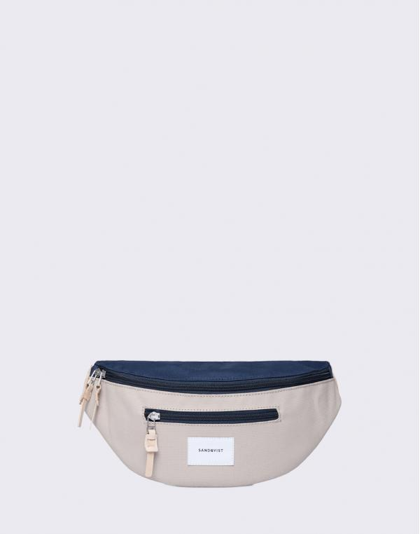 Sandqvist Aste Multi Beige/Blue with Natural Leather
