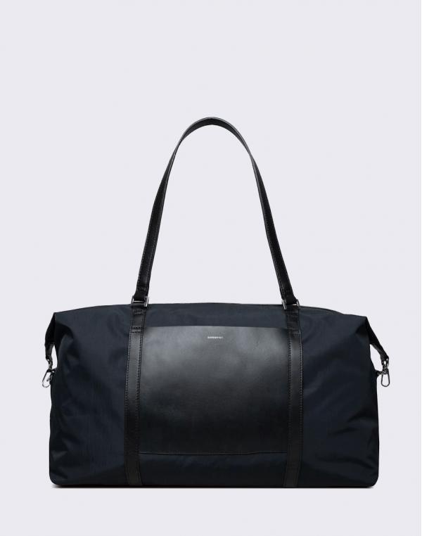 Sandqvist Hellen Black with Black Leather