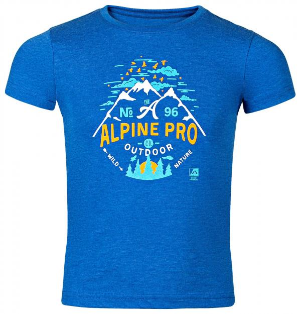 ALPINE PRO GARO 2 MODRÁ / TYRKYSOVĚ MODRÁ Dětské Triko 104-110