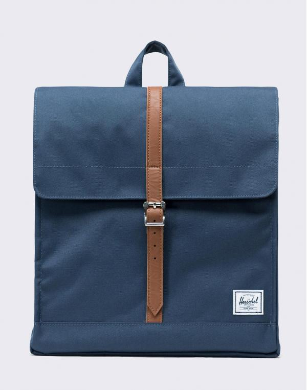 Herschel Supply City Mid-Volume Navy/ Tan Synthetic Leather