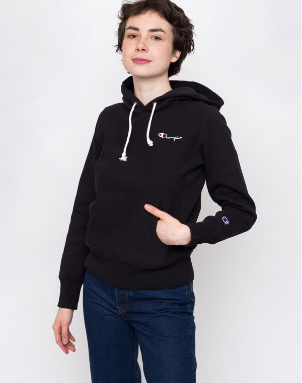 Champion Hooded Sweatshirt Black XS