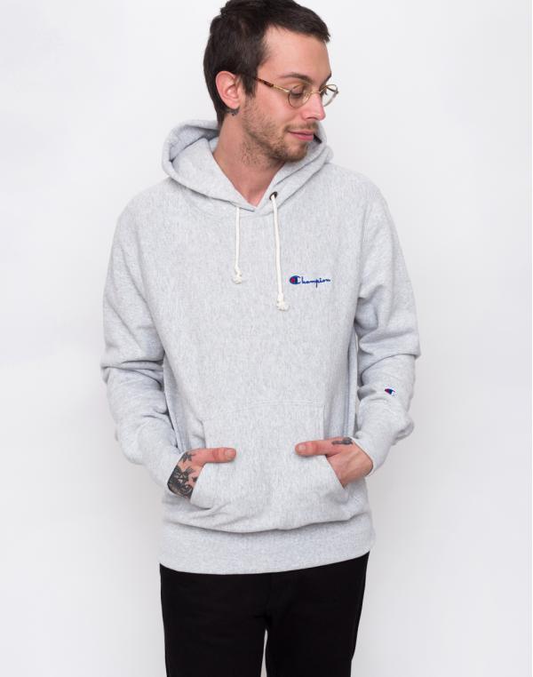 Champion Hooded Sweatshirt Light Grey L