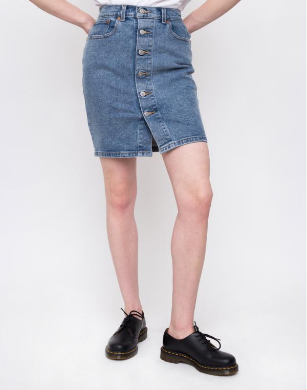 Levi´s® Button Thru Mom Skirt Med Indigo 27