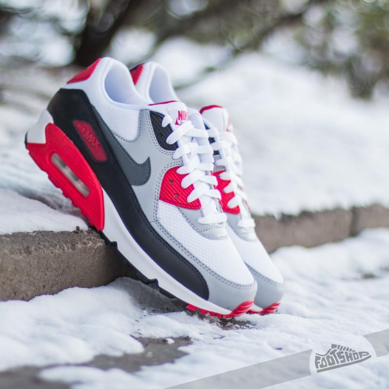 Nike Air Max 90 Essential White Dark Grey-Wolf Grey-Black  416805eab