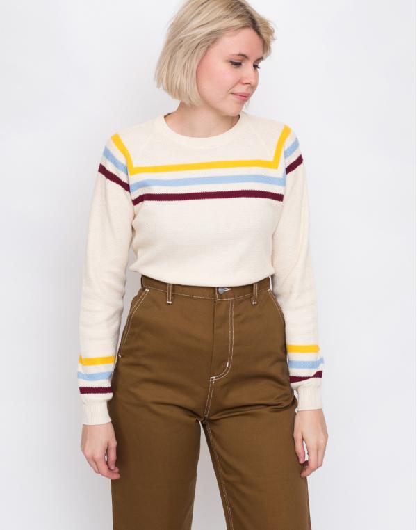 Thinking MU Stripes Oversized Sweater Ecru L