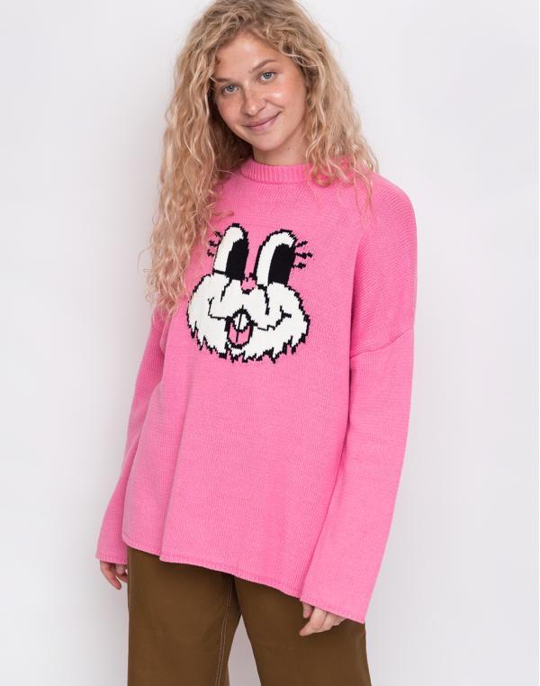 Lazy Oaf Bunny Jumper Pink M