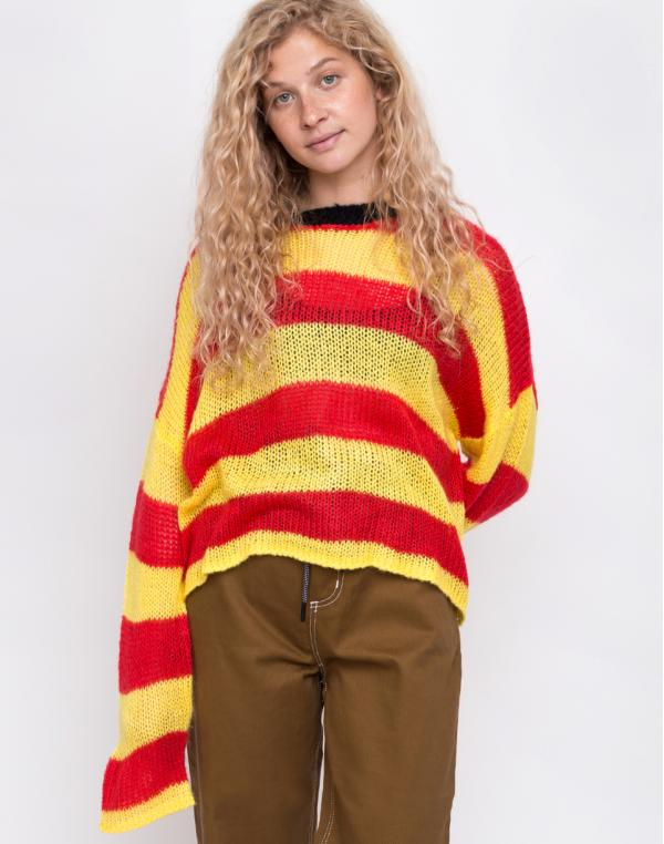 The Ragged Priest Loose Striped Knit Red/Yellow M