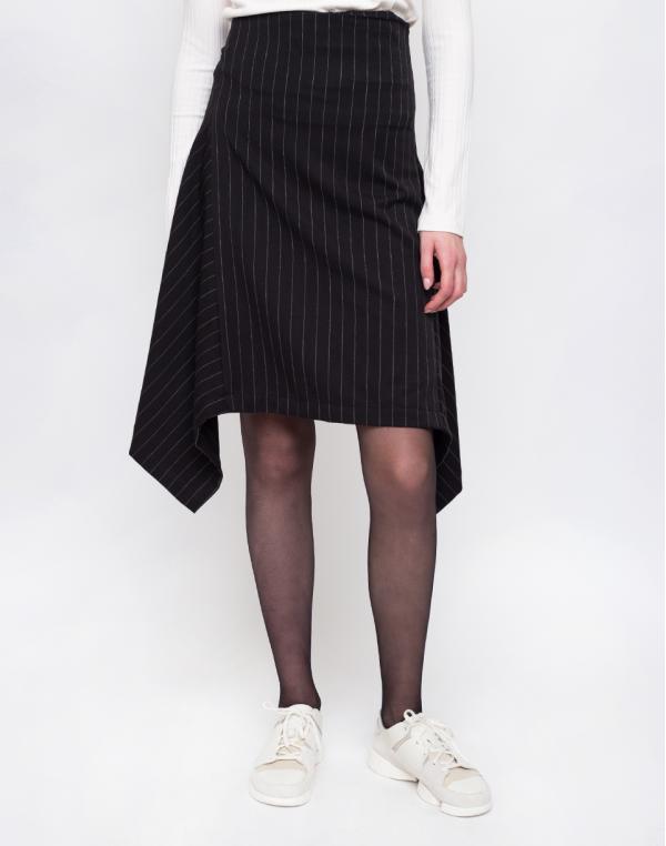 Odivi Dream Stripe Skirt Black With Stripe L