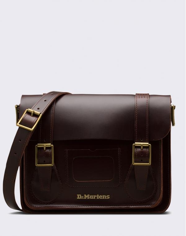 "Dr. Martens 11"" Leather Satchel Charro Brando"