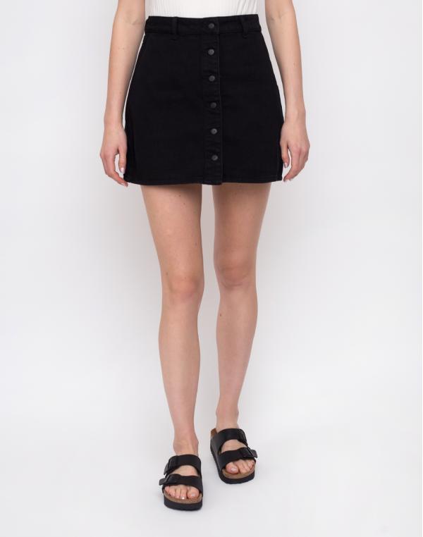 Lazy Oaf Black Button-Through Skirt Black 28