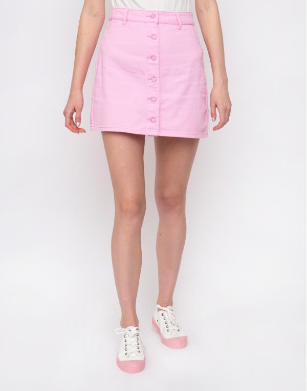 Lazy Oaf Pink Button-Through Skirt Pink 28