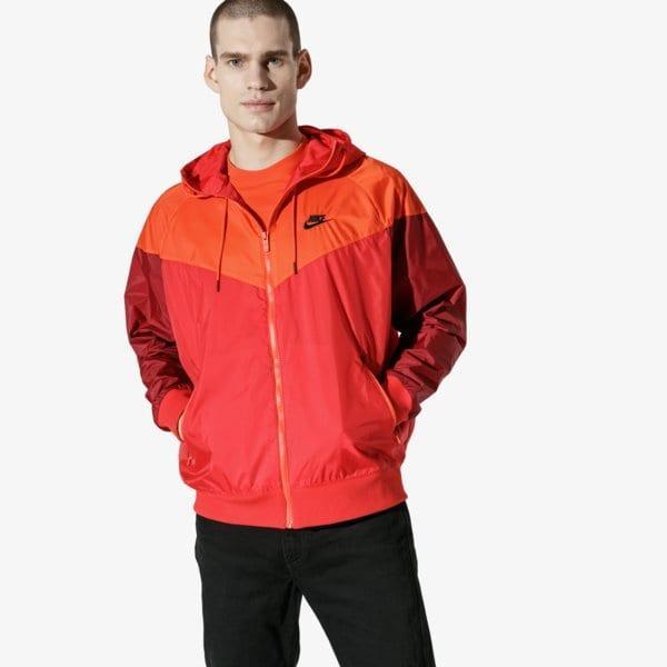 Nike M Nsw He Wr Jkt Hd Červená EUR L