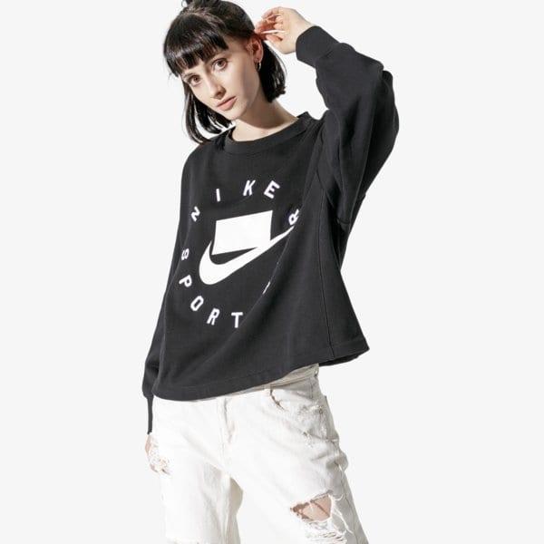 Nike W Nsw Nsp Crew Flc Ft Bf Černá EUR XS