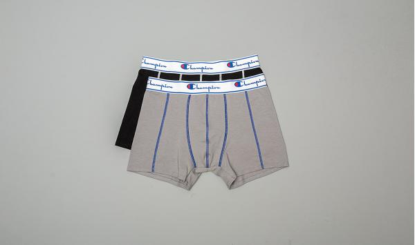 Champion 2-Pack Boxers Grey/ Black