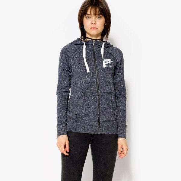 Nike W Nsw Gym Vntg Hoodie Fz Tmavomodrá EUR L