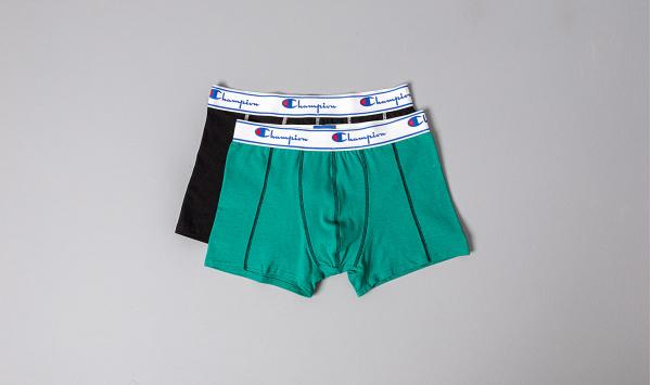 Champion 2pack Boxers Black/ Mint Green