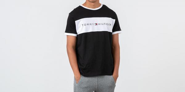 Tommy Hilfiger Logo Flag Tee Black