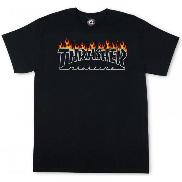 TRIKO THRASHER SCORCHED OUTLINE - černá
