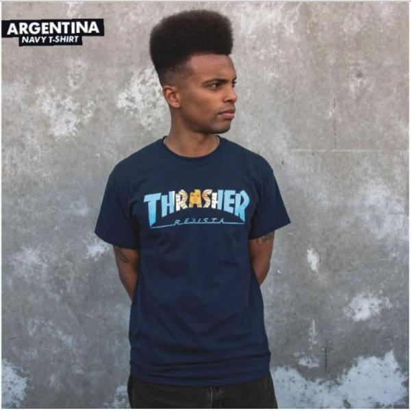 TRIKO THRASHER ARGENTINA - modrá