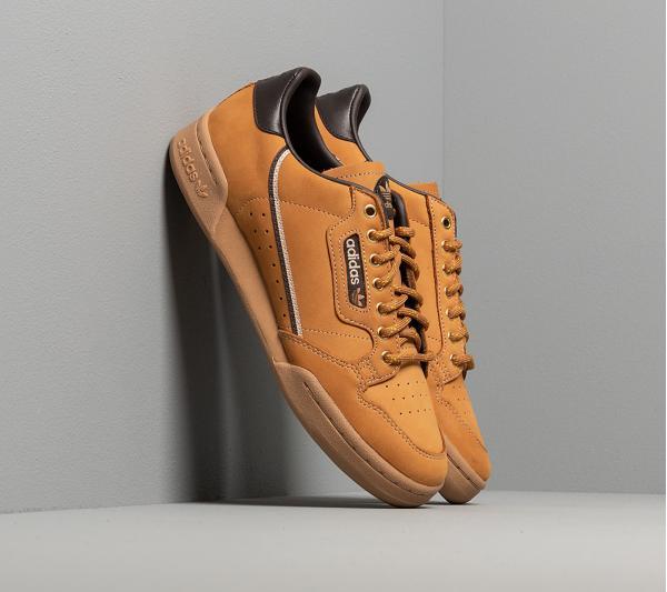adidas Continental 80 Mesa/ Night Brown/ Eqt Yellow
