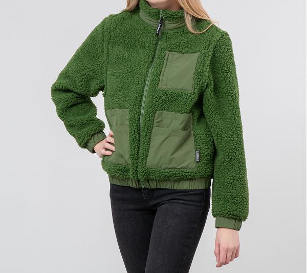 Stüssy Convertible Sherpa Jacket Green