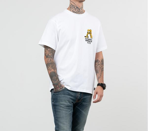 adidas Foot Forward Tee White/ Black/ Active Gold